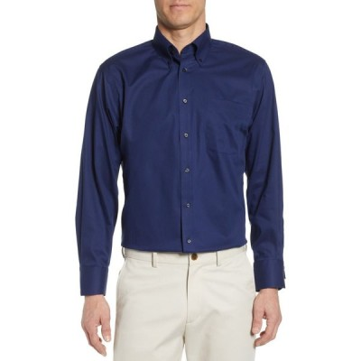 ノードストローム NORDSTROM メンズ シャツ トップス Classic Fit Non-Iron Dress Shirt Navy Medieval