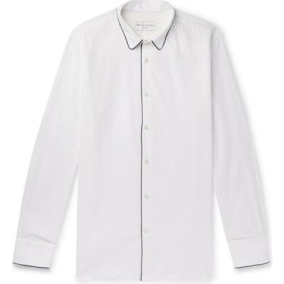 オフィシン ジェネラーレ OFFICINE GENERALE Paris 6e メンズ シャツ トップス Solid Color Shirt White