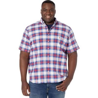 ラルフ ローレン Polo Ralph Lauren Big & Tall メンズ 半袖シャツ ワイシャツ トップス Short Sleeve Classic Fit Oxford Shirt Blue/White Multi