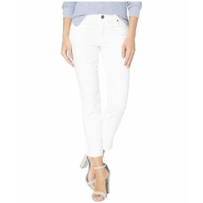 カットフロムザクロス デニム ボトムス レディース Reese Ankle Straight Leg Jeans w/ Release Hem in Optic White Optic White