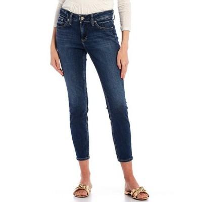 シルバー ジーンズ レディース デニムパンツ ボトムス Elyse Mid Rise Curvy Fit Skinny Jeans