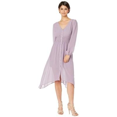 ケンジー kensie レディース ワンピース ワンピース・ドレス Circle Swiss Dot Ruched Waist Long Sleeve Button Front Dress KS7K8417 Smokey Violet