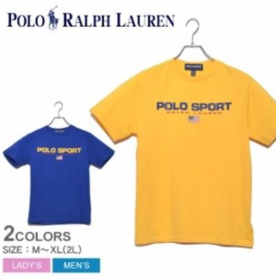 【メール便可】ポロ ラルフローレン 半袖Tシャツ レディース メンズ ブルー POLO RALPH LAUREN 323795487 ブランド トップス Tシャツ ユ
