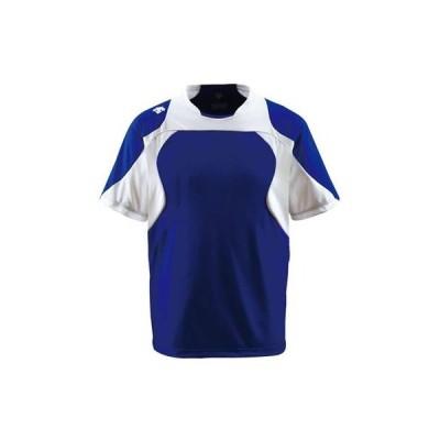 DESCENTE(デサント) ベースボールシャツ DB115 Dロイヤルブルー×Sホワイト×ホワイト(DROY) S
