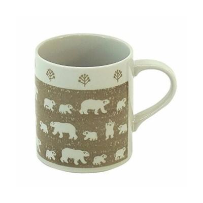 みのる陶器 白くま 軽量マグカップ ベージュ 320ml 4965583744207