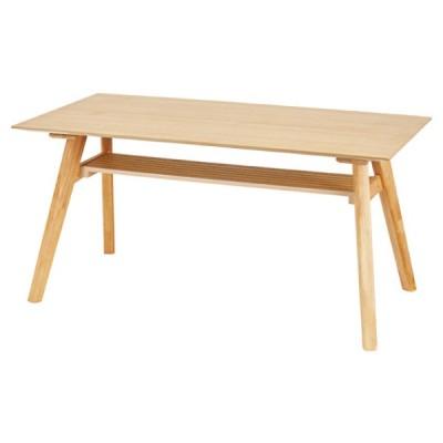 ダイニングテーブル テーブル 机 ナチュラル ベージュ おしゃれ 北欧 4人用 四人用 木製 天然木 食卓 センターテーブル シンプル 棚付 ACE-911NA / 東谷