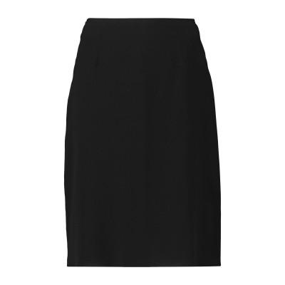 アニオナ AGNONA ひざ丈スカート ブラック 38 シルク 91% / ポリウレタン 9% / コットン / レーヨン ひざ丈スカート