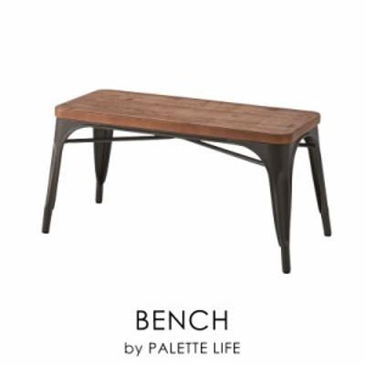 ベンチ 木製 2人掛け ダイニング 長椅子 背もたれなし ブラウン