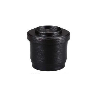 竹型飯器 黒刷毛目