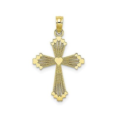 """10K Yellow Gold Small Charm Necklace Pendant with 18"""" Length Chain, Re"""