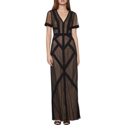 ビーシービージーマックスアズリア BCBGMAXAZRIA レディース パーティードレス ワンピース・ドレス tulle dot gown ブラック