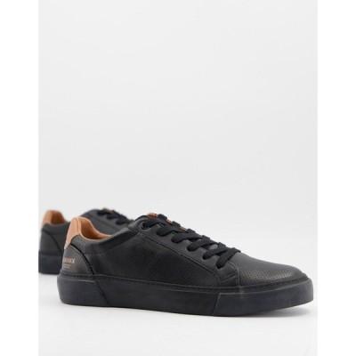 エイソス ASOS DESIGN メンズ スニーカー シューズ・靴 trainers in black texture ブラック