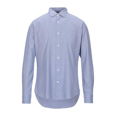 TRUZZI シャツ ブルー 40 コットン 100% シャツ