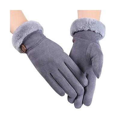 Caseeto 手袋 レディース てぶくろ グローブ 女性用 通勤 通学 裏起毛 フワフワ 暖かい 防寒 スマホ タッチパネル