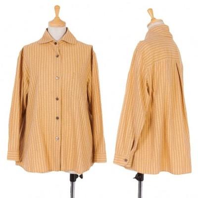 【SALE】ジジリgigli 柄織りコットンブラウス モカベージュ38(M) 【レディース】