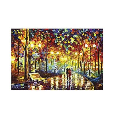 PigBangbang,Intellectiv Games Photomosaic Jigsaw Puzzle Wooden in a Box 1000 Piece 29.5 X 19.6''Famous Paintings On The Road with You