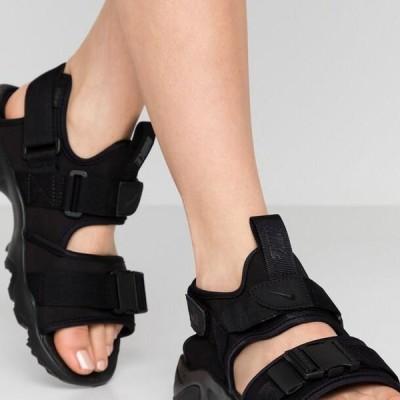 ナイキ レディース 靴 シューズ CANYON - Walking sandals - black