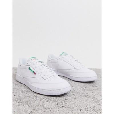 リーボック メンズ スニーカー シューズ Reebok Club c 85 sneakers in white ar0456