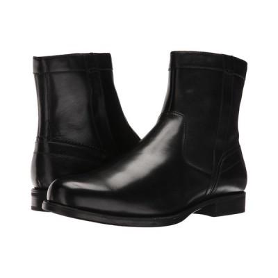 フローシャイム Florsheim メンズ ブーツ シューズ・靴 Midtown Plain Toe Zip Boot Black Smooth