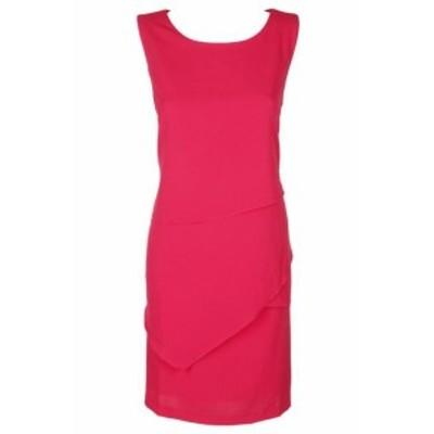 Jessica Howard ジェシカハワード ファッション ドレス Jessica Howard Plue Size Pink Sleeveless Asymmetrical Graduated Shift Dress