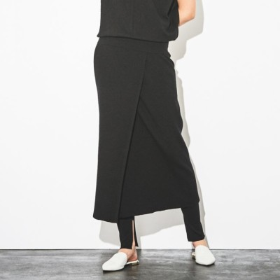 【店舗限定】【LA MAGLIA IN CASA】リブラップスカート
