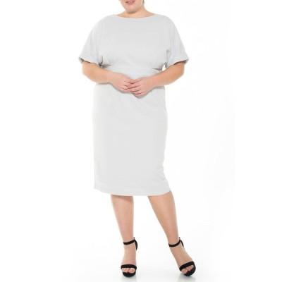 アレクシアアドマー レディース ワンピース トップス Jacqueline Dolman Sleeve Sheath SLATE