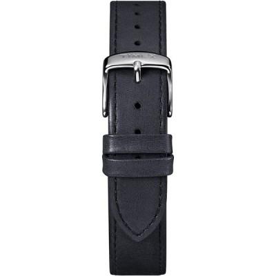 腕時計 タイメックス レディース TW7C08600GZ Timex TW7C08600 Two-Piece 18mm Black Leather Quick-Re
