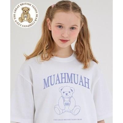 tシャツ Tシャツ 『muah muah/ムーアムーア』×『teddy bear/テディベア』Signature Bareline Short Sle