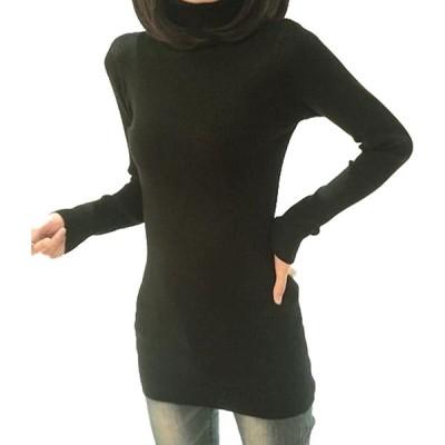 全5色 無地 タートル ネック セーター ブラック