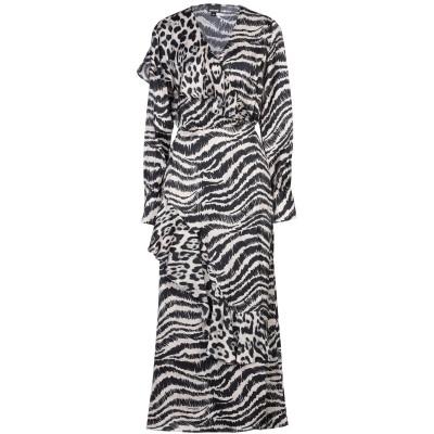 ジャストカヴァリ JUST CAVALLI ロングワンピース&ドレス アイボリー 38 レーヨン 100% ロングワンピース&ドレス