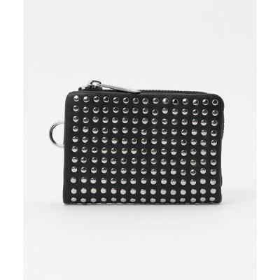 財布 Leather micro wallet 'all-studs' 2 ショートウォレット