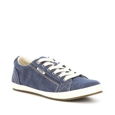 タオスフットウェア レディース スニーカー シューズ Star Washed Canvas Lace-Up Sneakers Blue Washed