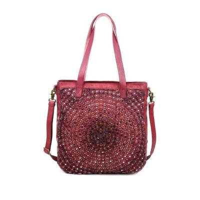 オールドトレンド レディース トートバッグ バッグ Stellar Stud Leather Tote Bag ORCHID