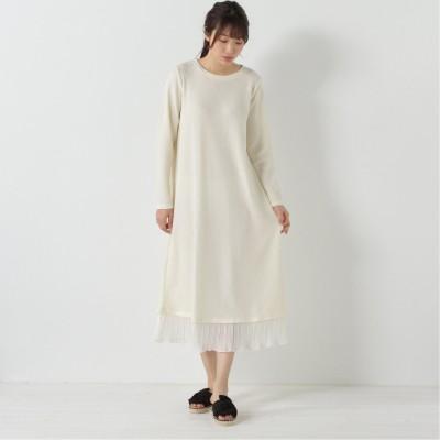 無地裾プリーツロングワンピース(ページワン/PAGE ONE)