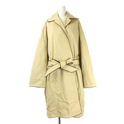 【中古】バレンシアガ BALENCIAGA 20SS COCOON SHORT TRENCH COAT コート ショート 34 ベージュ 黒 607491 TAP01 /AA ■OS レディース 【ベクトル 古着】