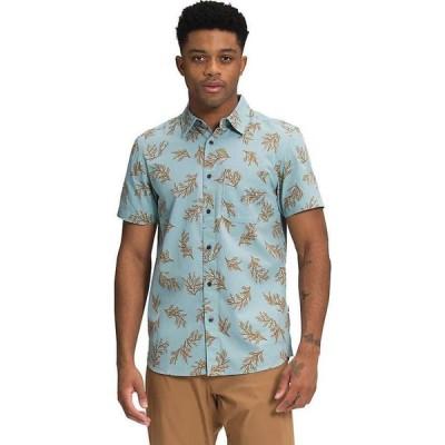 ザ ノースフェイス The North Face メンズ 半袖シャツ トップス Baytrail Pattern SS Shirt Tourmaline Blue Sequoia Sprigs Print