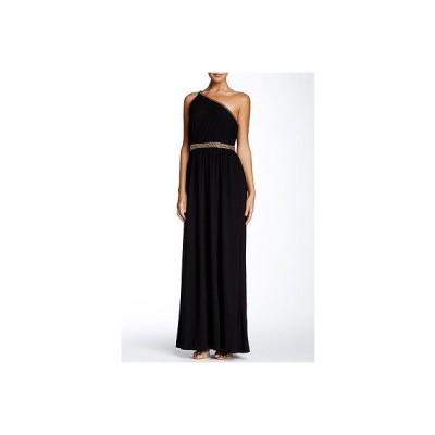 ドレス レイチェル ゾー Rachel Zoe Lillith Shirred Toga Maxi Dress in Black size 2 395