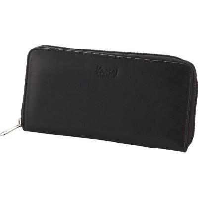 カンサイセレクション ラウンドファスナー長財布 ブラック  S-KSL153132BK (ギフト対応不可)