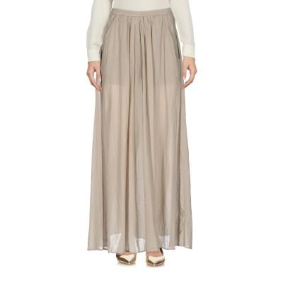 EUROPEAN CULTURE ロングスカート ベージュ S コットン 99% / ポリウレタン® 1% ロングスカート
