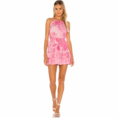 マジョレル MAJORELLE レディース ワンピース ミニ丈 ワンピース・ドレス Baker Mini Dress Pink Tie Dye
