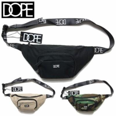 DOPE ドープ ウェストバッグ クロスボディ BOX LOGO BODYBAG 19DP-FW02A ZIP 鞄 ブラック ベージュ カモ