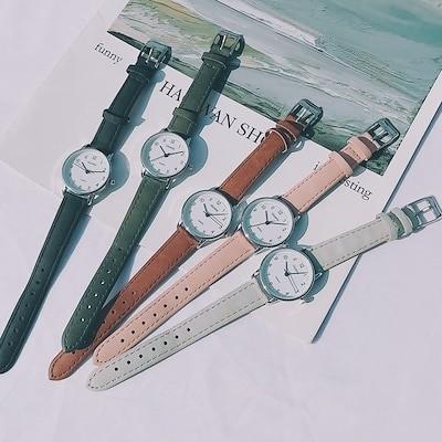 レトロな時計女性 腕時計 女性の時計 新鮮な韓国語版