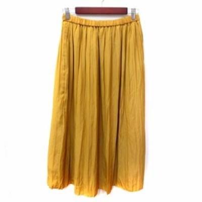 【中古】ガリャルダガランテ GALLARDAGALANTE マキシスカート フレア ギャザー 0 黄色 イエロー /YI レディース