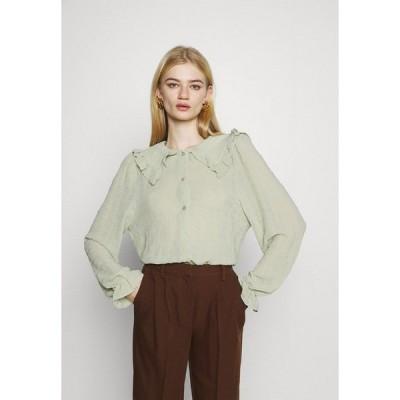 モンキ シャツ レディース トップス NAIMA BLOUSE - Button-down blouse - green dusty light