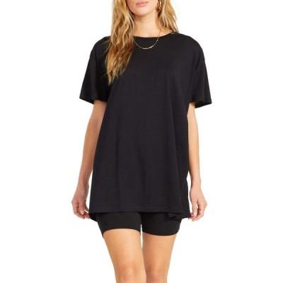 スティーブ マデン BB Dakota x Steve Madden レディース Tシャツ トップス Cult Classic Tee - Modal Jersey Oversized T-Shirt Black
