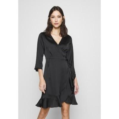 ヴェロモーダ レディース ワンピース トップス VMHENNA WRAP DRESS - Cocktail dress / Party dress - black black