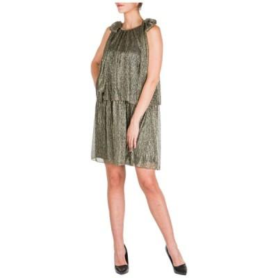 ドレス ブルマリン BE BLUMARINE WOMEN'S SHORT MINI DRESS SLEEVELESS NEW ORIGINAL GOLD 3BA