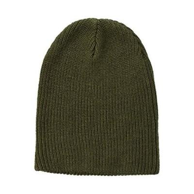 エムシー ニット帽 ニットキャップ 帽子 リブ編み リブニット帽 5-カーキ F
