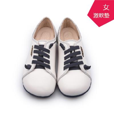 【A.MOUR 經典手工鞋】頂級牛革饅頭鞋 - 小牛白(2818)