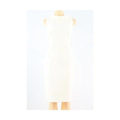 アンクライン ドレス Anne Klein 10561922 New  Textuレッド Stand Collar Pique ニット Sheath ドレス White